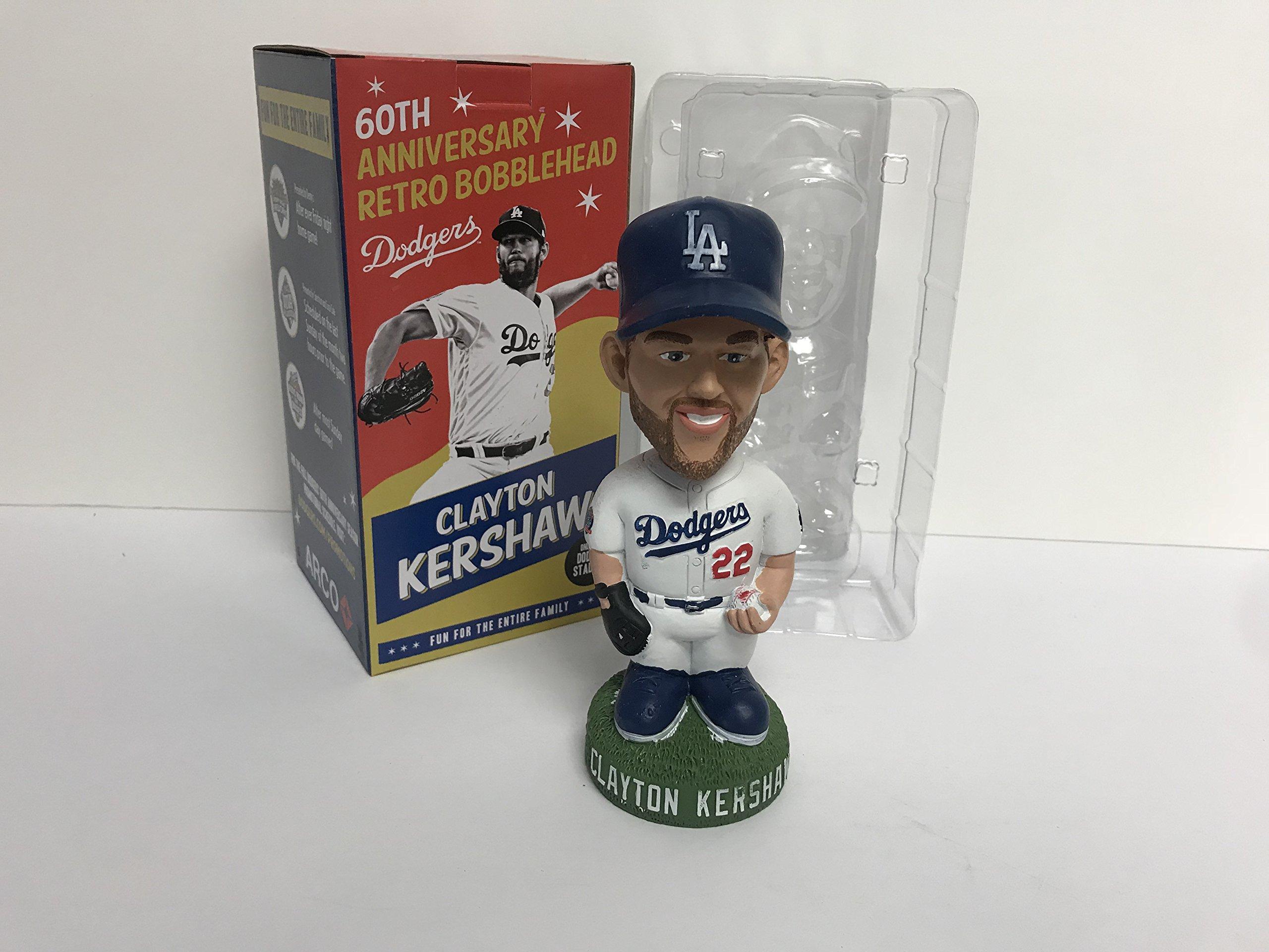 CLAYTON KERSHAW 2018 Los Angeles Dodgers 60th anniversary Retro Bobblehead SGA