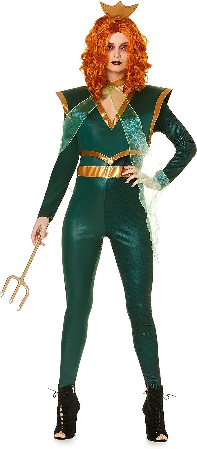 Karnival Costumes Disfraz de Reina del mar, tamaño Grande, Color ...