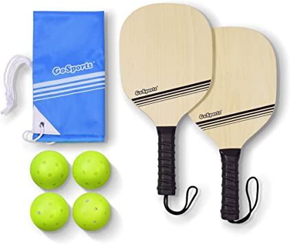 Amazon.com: gosports Madera Pickle pelota Starter Set ...