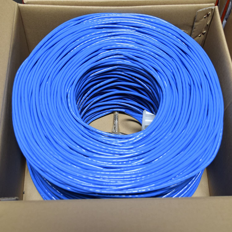 Composite Cable Ethernet Wire 1x RG6U Quad Shield 1x CAT 5E UTP 500/' BL BCC-1947