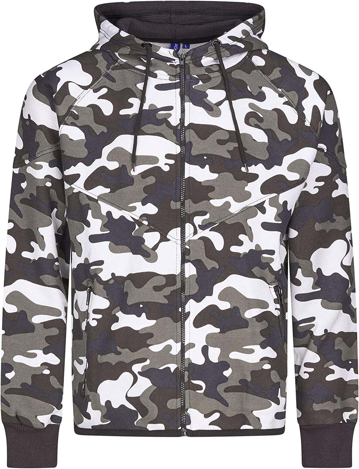 Mens Womens Unisex Camouflage Full Tracksuit Trackie in Snow Greenland and Water Camo Style 2
