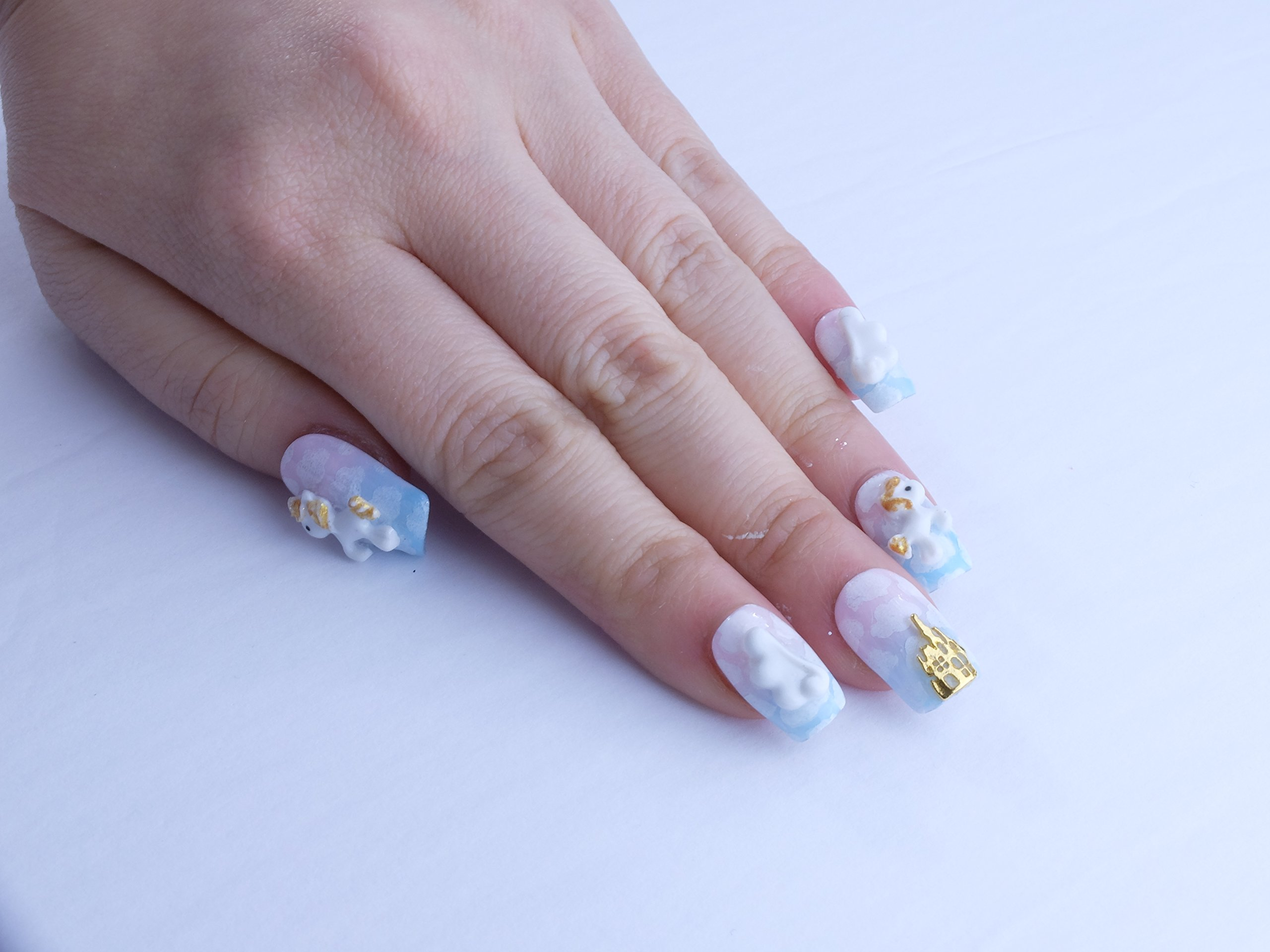 Castle Unicorn Custom Press on Nails