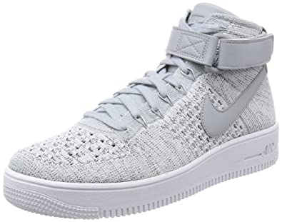 2cb94575945c Nike Men s AF1 Ultra Flyknit Mid Basketball Shoe Wolf Grey  Wolf Grey White  9.5 D