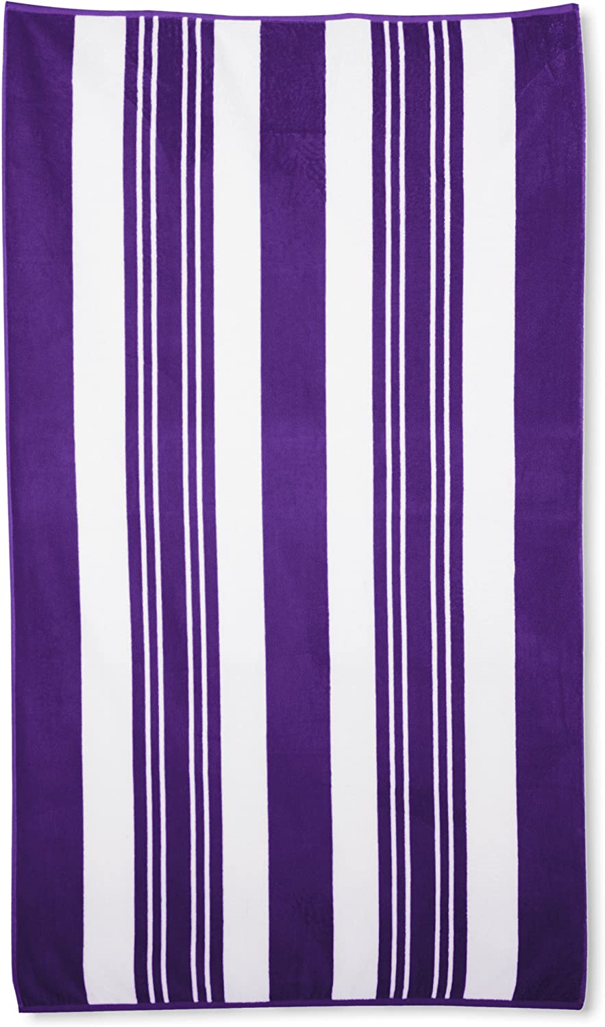 Northpoint Sorrento Combed Cotton Thick Terry Oversized Beach Towel, 40 by 70-Inch