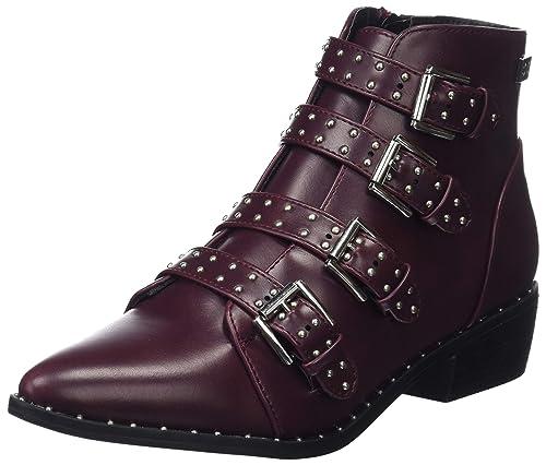 COOLWAY Leto, Botines para Mujer, Rojo (Burg 510), 41 EU: Amazon.es: Zapatos y complementos