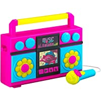 Trolls World Tour Sing Along Boombox with Microphone, Built in Music, Flashing Lights, Real Working Mic for Kids Karaoke…