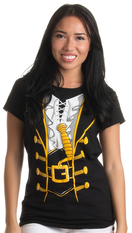 Pirate Buccanneer | Jumbo Print Novelty Halloween Costume Ladies' T-shirt Ann Arbor T-shirt Co. 0-1big_pirate-ladies