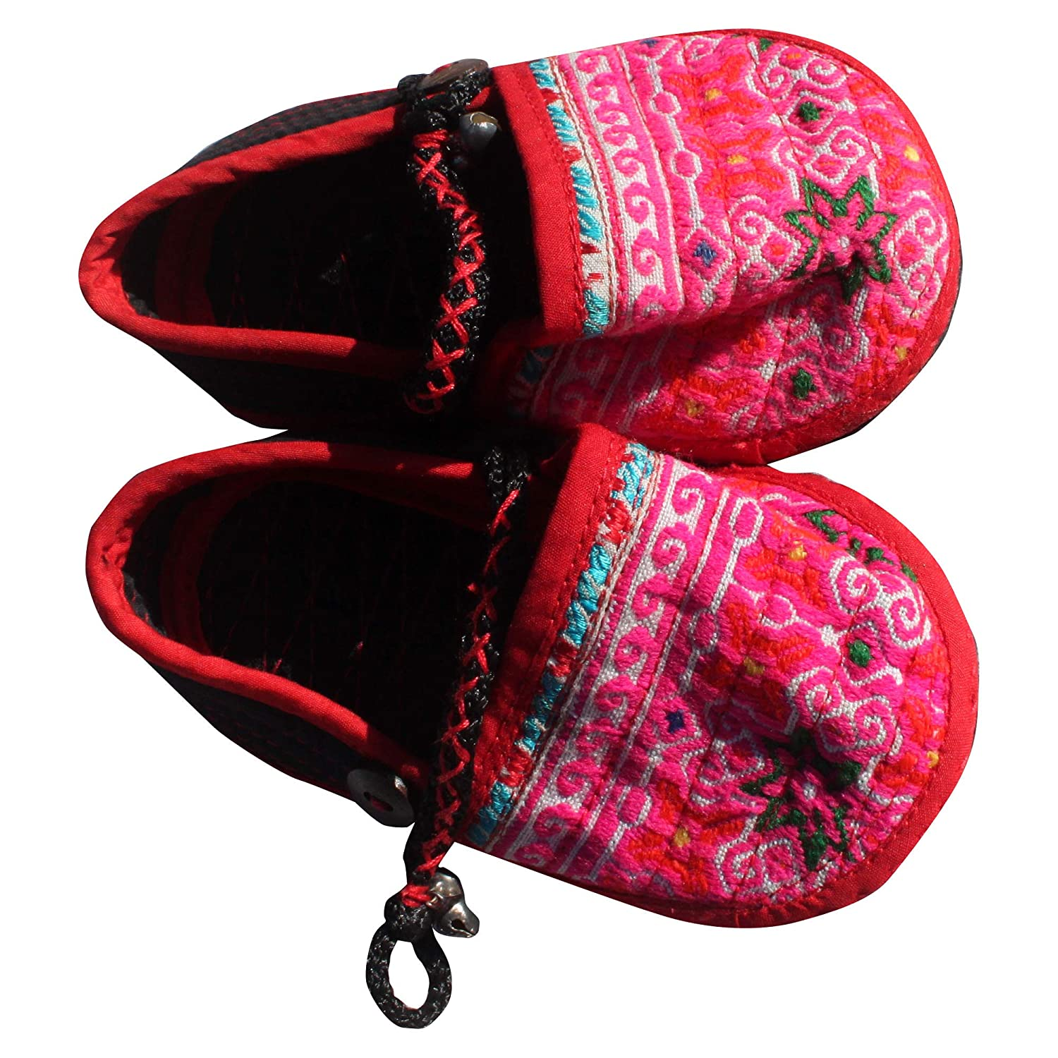 Full Funk Little Thai Hmong HillTribe Babies Baby Infant Hand Stitched Shoes