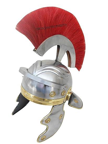 Co antiguo romano casco de centurión armadura rojo penacho Coleccionable Medieval cromo