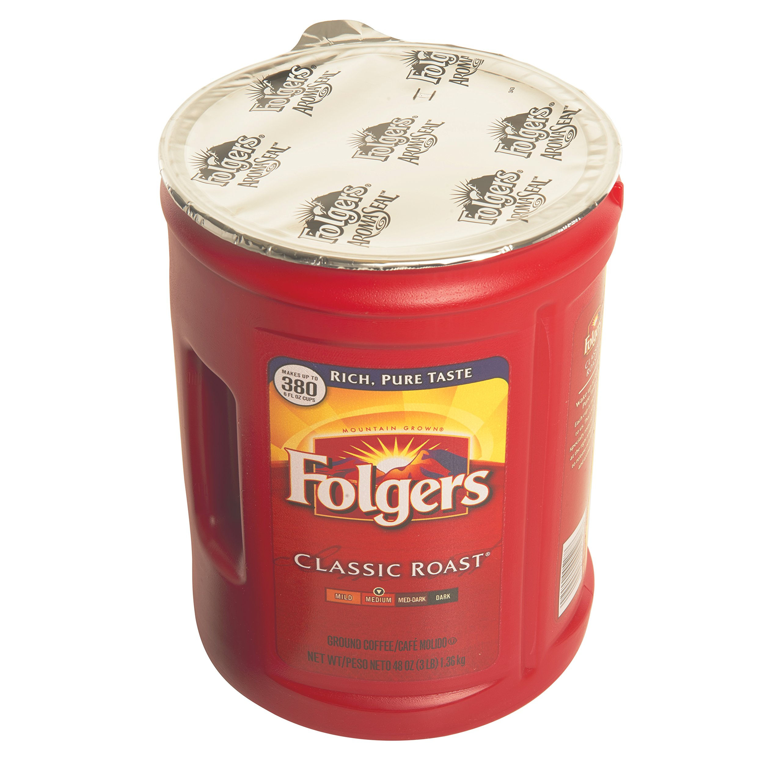 Folgers 4-Pack of 48 Ounce Canisters, Classic Medium Roast Coffee by Folgers (Image #3)