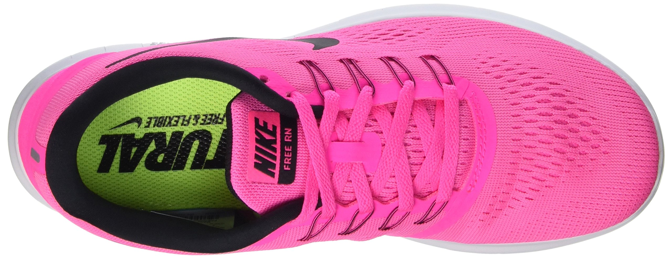 Nike Womens Free RN Running Shoes Pink Blast/Fire Pink/White/Black 5 B(M) US by Nike (Image #6)