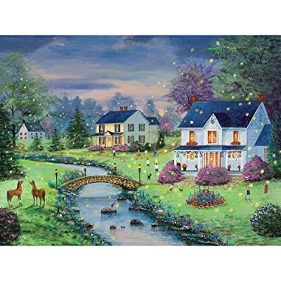 Bits and Pieces 500 Piece Jigsaw Puzzle for Adults - Firefly Magic - 500 pc Country Summer Nights Jigsaw by Artist Mary Ann Vessey