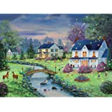 Bits and Pieces 300 Large Piece Jigsaw Puzzle for Adults - Firefly Magic - 300 pc Country Summer Nights Jigsaw by Artist Mary Ann Vessey