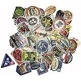 トラベル旅行ステッカー レトロ ビンテージ ミリタリー アメリカン スーツケース用シール素材 105枚セット