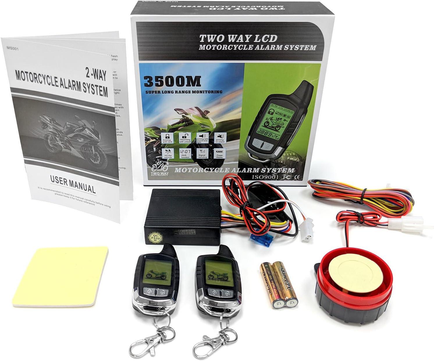 Kapsco Moto 2 Way Motorcycle Alarm Pager Remote Engine Start For Suzuki GSXR GSX-R Gixxer 1000