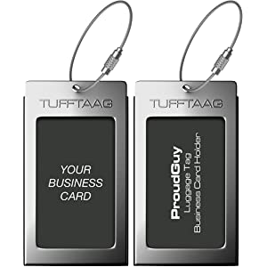 luggage tags business card holder tufftaag travel id bag.html