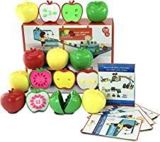 Skoolzy Toddler Games - Apple Factory Learning Toys for 3 Year olds to Ages 6 - STEM Color, Counting Educational...