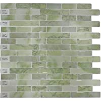 "Crystiles Peel and Stick Self-Adhesive DIY Backsplash Stick-on Vinyl Wall Tiles for Kitchen and Bathroom Décor Projects, Item# 91010842, 10"" X 10"" Each, 6 Sheets Pack"