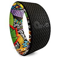 Yoga Wheel 13'' – Strong & Comfortable Dharma Yoga Prop Wheel for Inversions & Backbends + Online Videos