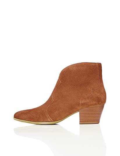 face5316bb210 find. Women's Ankle Boots in Suede Cowboy Style, Beige (Tan), 3 UK ...