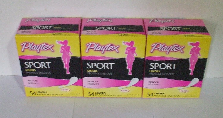 9f9a719f24 Amazon.com  Pltx Sport Reg Bdy Shpe L Size 54ct Playtex Sport Body Shape  Liner Regular 54ct  Health   Personal Care