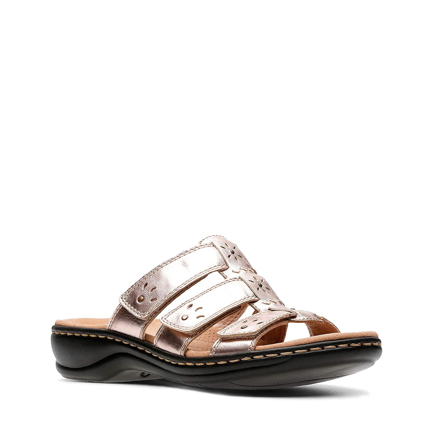 Clarks Leisa Spring Leather Sandals in