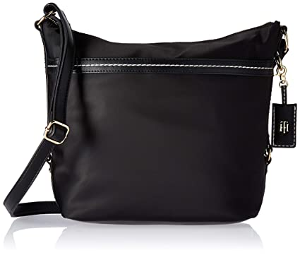 0eea262c9b Amazon.com: Tommy Hilfiger Hobo Bag for Women Work Nylon, black: Clothing