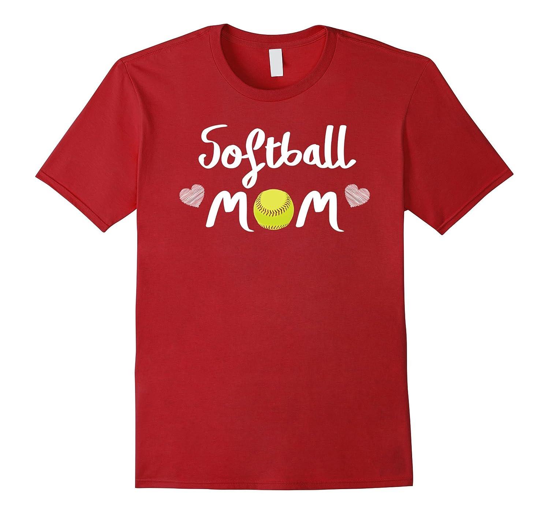 Cute Softball Mom Shirts-I Love My Girls Mom Softball Shirt-ANZ