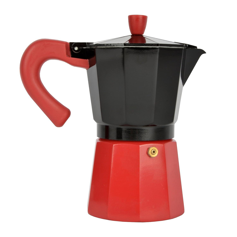 Bloquer Alba Select Cafetera Inducción, Aluminio, Negro y Rojo ...