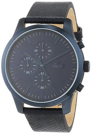 59b0de2d4f Lacoste Mixte Chronographe Quartz Montres bracelet avec bracelet en Cuir -  2010948