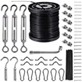 String Lights Hanging Kit,Globe String Lights Suspension Kit,Outdoor Light Guide Wire,Includ 164 FT Nylon-Coated…