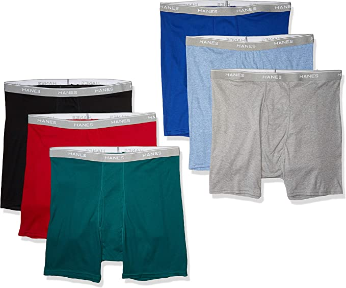 Hanes Mens 5-Pack Exposed Waistband Boxer Brief