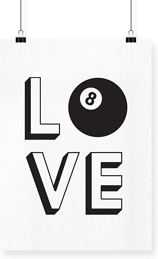 HippoWarehouse love 8-Ball billar printed Póster pared arte pared ...