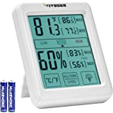 VIVOSUN Digital Indoor Thermometer and Hygrometer with Humidity Guage, Accurate Temperature Humidity Monitor Meter with Touch