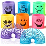 The Twiddlers 96 Mini Smiley Springs in Assorted Colours - Ideal Slinkys for Party, Toy Favours, Birthdays & Christmas Bags & Stocking Fillers, Class Prizes