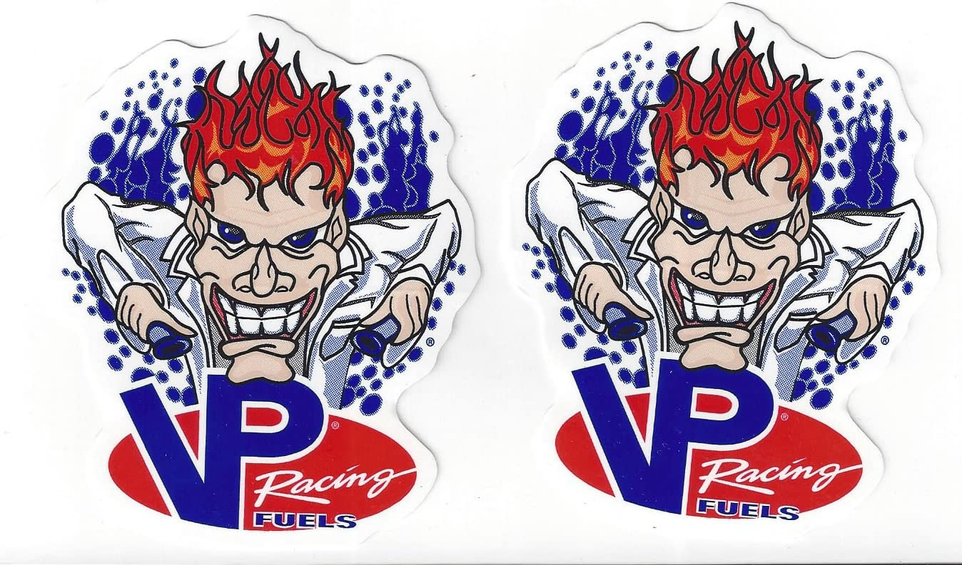 """2 New Large 7/"""" VP Racing Fuels Mad Scientist Stickers Decal From VP"""
