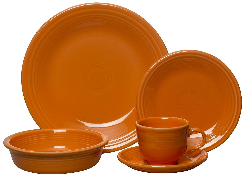 sc 1 st  Amazon.com & Amazon.com: Fiesta 5-Piece Place Setting Tangerine: Kitchen u0026 Dining