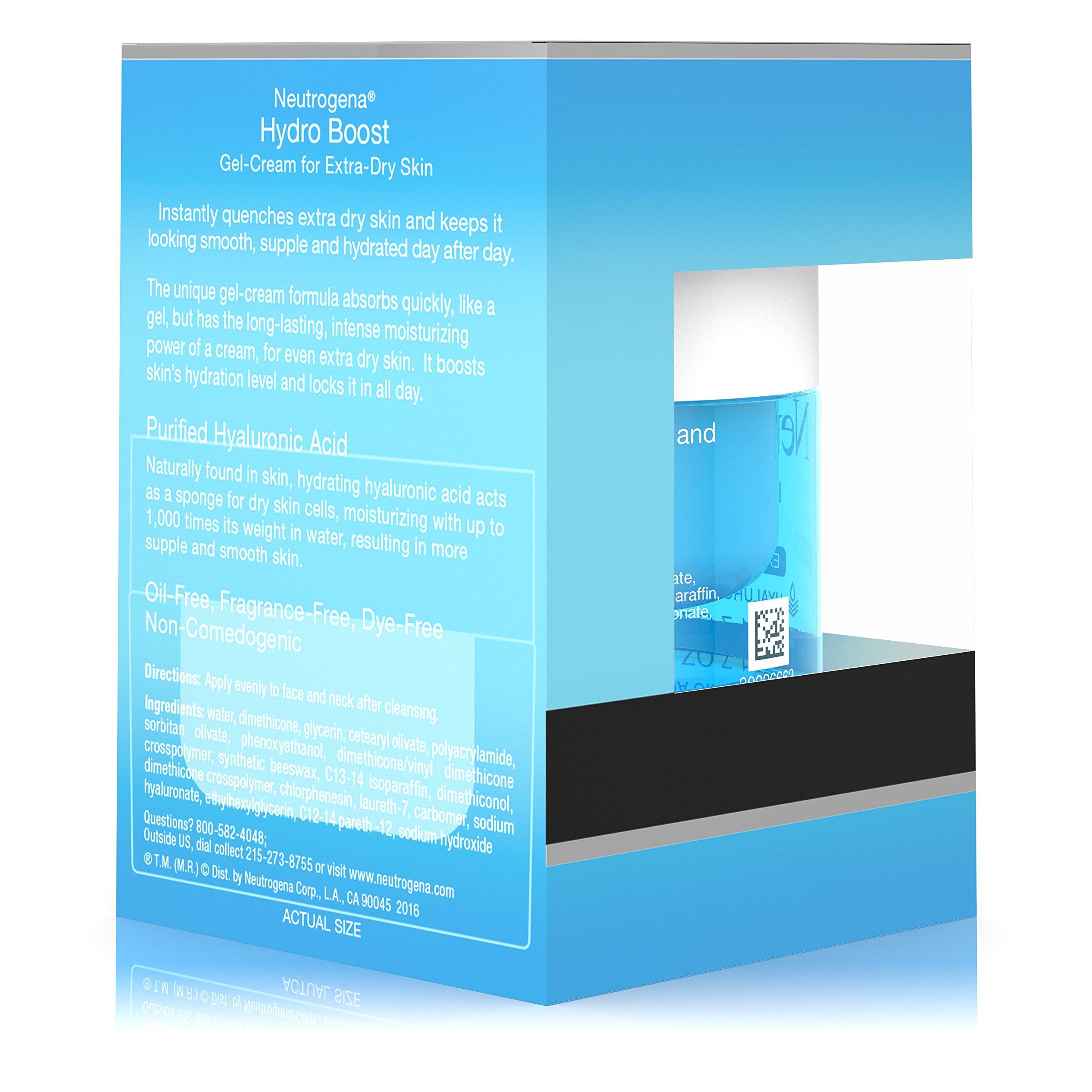 Neutrogena Hydro Boost Hyaluronic Acid Hydrating Face Moisturizer Gel-Cream to Hydrate and Smooth Extra-Dry Skin, 1.7 oz by Neutrogena (Image #8)