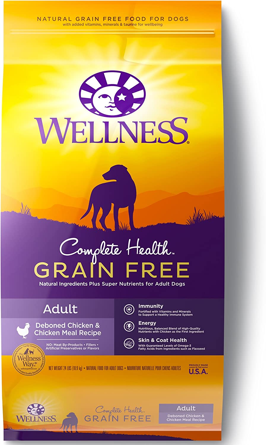 Wellness Complete Health Natural Grain Free Dry Dog Food Chicken