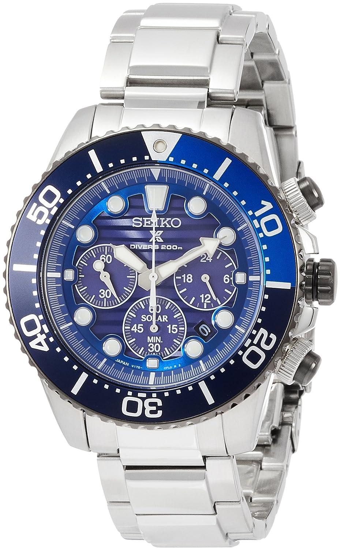 648c9cd70e2 Amazon.com   Solar Watches   Clocks  Pross Pecks (PROSPEX) Save The Ocean  Campaign SBDL055  Watches