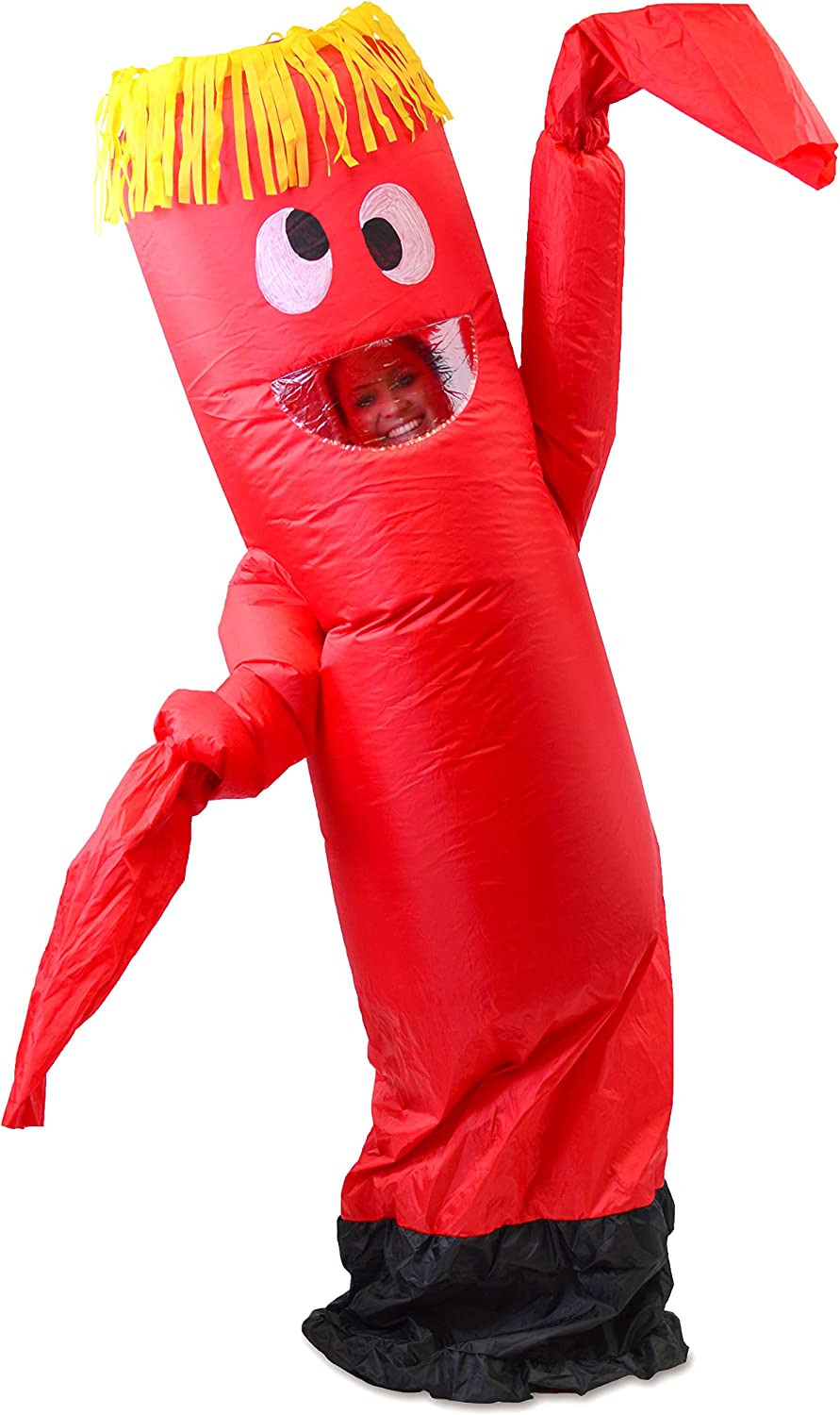 Spooktacular Creations Inflatable Costume Tube Dancer Wacky Waiving Arm Flailing Halloween Costume Adult Size