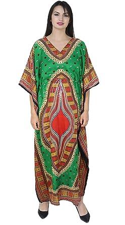 SKAVIJ Maxi Longitud Caftán Kaftans por Mujer Dashiki Caftán Bata de Noche Más tamaño: Amazon.es: Ropa y accesorios