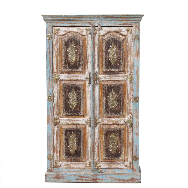 Schrank Küchenschrank Wohnzimmerschrank Antik 150 cm Retro Wandschrank Massiv Holz Palisander