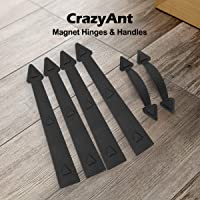 CrazyAnt Garage Door Decorative Hardware Non-Fade Magnetic Faux Hinges Handles Carriage-Style Decorative Garage Door Accents Easy Installation for Metal Garage Door