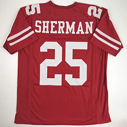 Unsigned Richard Sherman San Francisco Red Custom Stitched Football Jersey  Size Men s XL New No Brands 0a0ff58ef