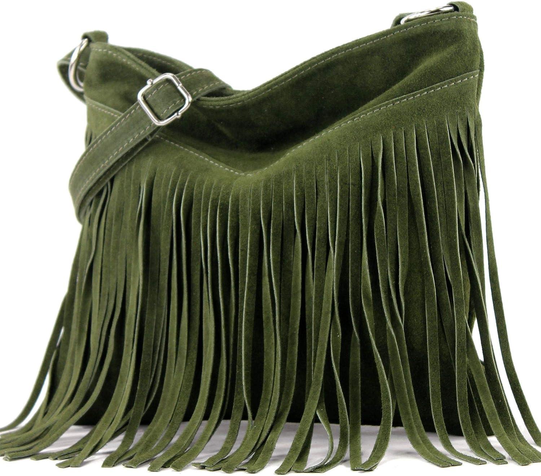 modamoda de - T145 - bolso de hombro ital con flecos