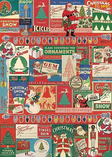 vintage christmas decorative decoupage poster wrapping paper sheet - Vintage Christmas Wrapping Paper