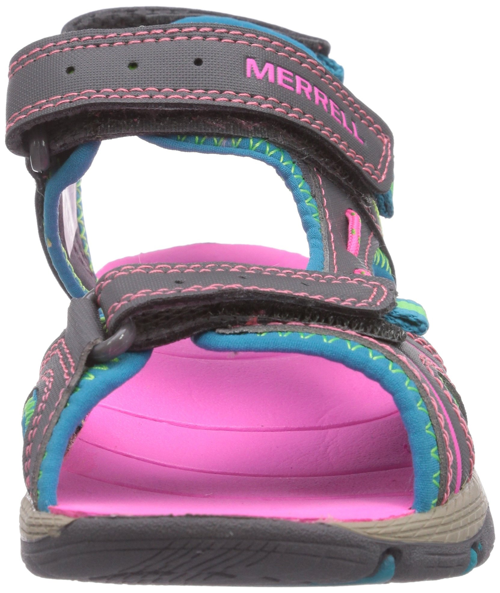 Merrell Panther Athletic Water Sandal , Blue/Pink/Green, 11 M US Little Kid by Merrell (Image #4)