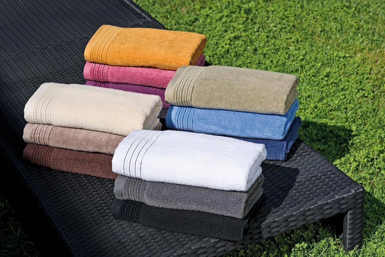 Home Juliet - Juego de 3 toallas para tocador, 33 x 50 cm, lavabo, 50 x 100 cm y baño, 100 x 150 cm, color rosa: Amazon.es: Hogar