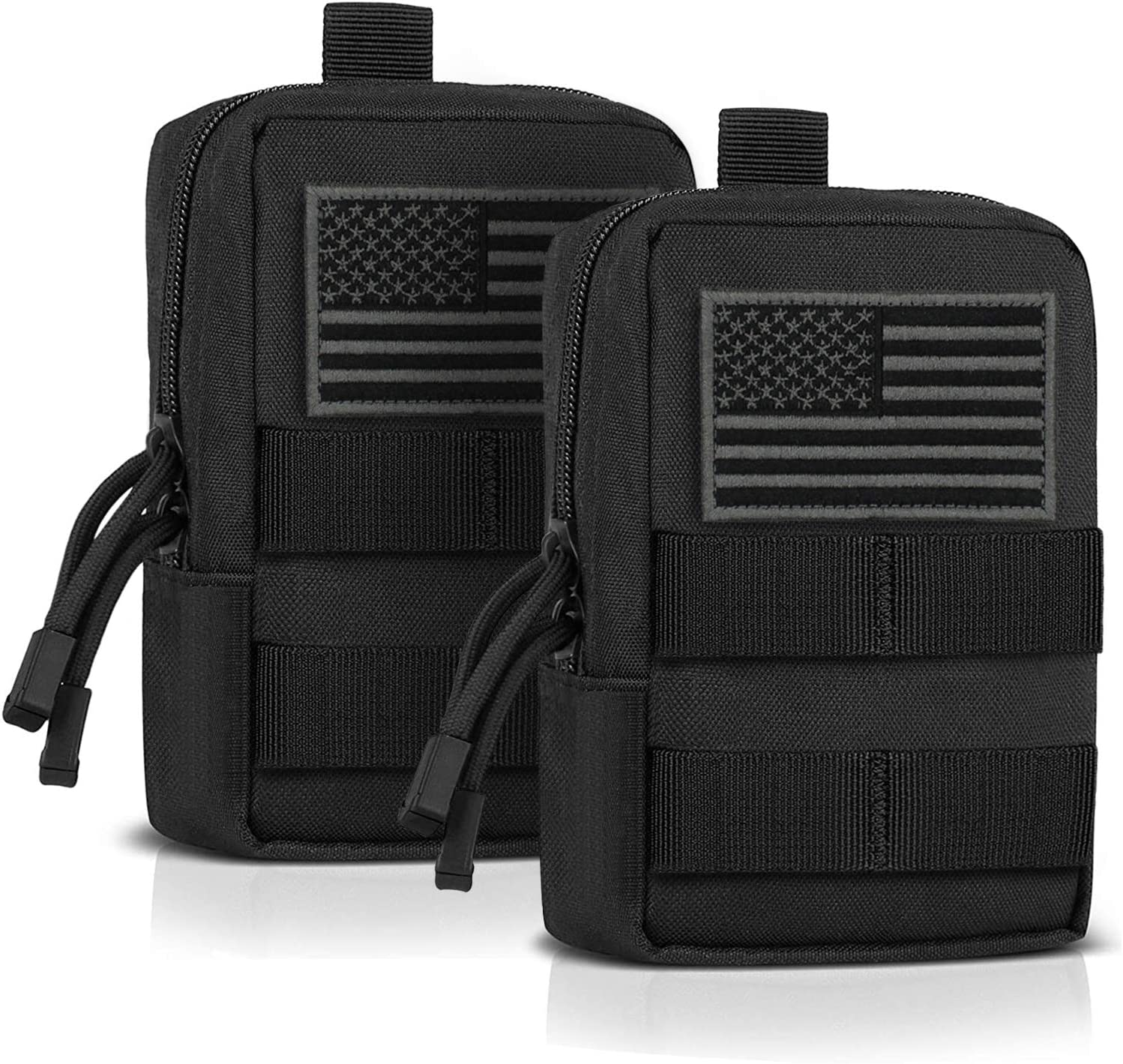 YDa MOLLE Pouch EDC Pouch Multi-Purpose Compact Tactical Waist Bags Small Utility Pouch 2 Pack : Sports & Outdoors